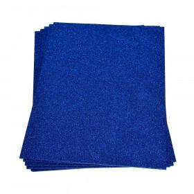 Moosgummiplatte glitter blau 2mm 20x30cm