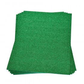 Moosgummiplatte glitter grün 2mm 20x30cm