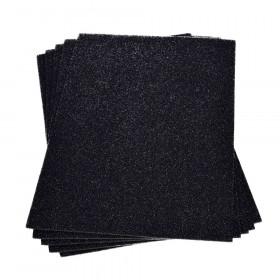 Moosgummiplatte glitter schwarz 2mm 20x30cm