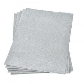 Moosgummiplatte glitter silber 2mm 20x30cm