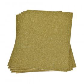 Moosgummiplatte glitter gold 2mm 20x30cm