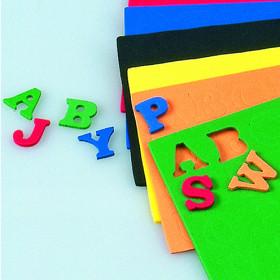Moosgummi-Buchstaben 15 x 2 mm 156 Stk.