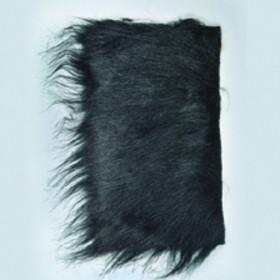 Langhaarplüsch schwarz 20 x 35 cm