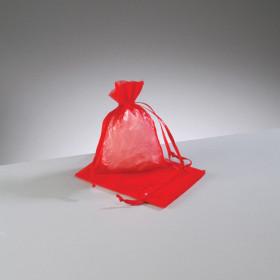 Beutel Organza 7,5 x 10 cm rot
