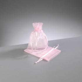 Organza-Beutel rosa 7,5 x 10 cm