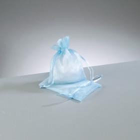 Beutel Organza 7,5 x 10 cm hellblau