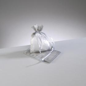 Organza-Beutel  silbergrau 7,5 x 10 cm