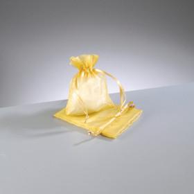 Beutel Organza 7,5 x 10 cm goldgelb