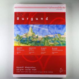 Aquarellkarton Block Burgund 17x24cm 250 g/m² 20 Blatt - matt