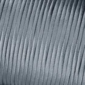 Satinkordordel grau 2 mm Meterware 1m