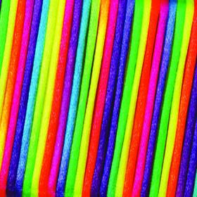 Satinkordordel regenbogen 2 mm Meterware 1m
