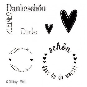 Clearstamp Stempel Dini Design Danke