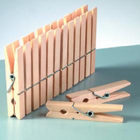 Holzklammern 45mm 24 Stück roh