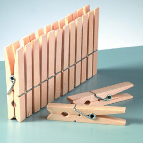 Holzklammern 30mm 25 Stück roh
