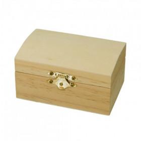 Holztruhe Kiefer 9,5 x 6,5 x 5,3 cm roh