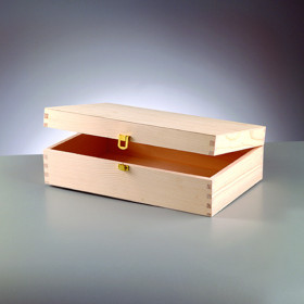 Holzkiste Kiefer 35,5 x 22 x 10,5 cm roh