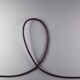 Lederband braun ca. 2mm 1m