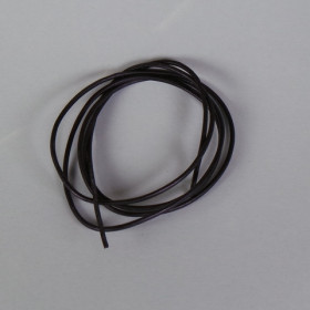 Lederband schwarz ca. 2mm 1m