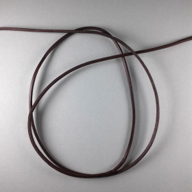 Lederband vierkant braun ca. 2,5mm 1m