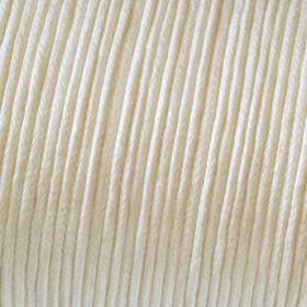 Baumwollkordel creme 1mm gewachst 6m