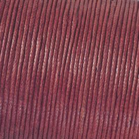 Baumwollkordel bordeaux 1mm gewachst 6m