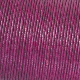 Baumwollkordel aubergine 1mm gewachst 6m