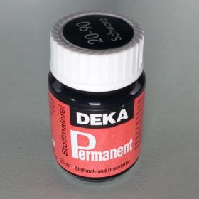 Stoffmalfarbe Schwarz Deka-Permanent 25ml