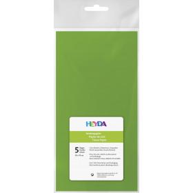 Seidenpapier hellgrün 50x70cm 5 Bögen