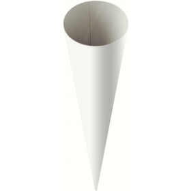Schultüte Rohling rund groß weiß 70cm