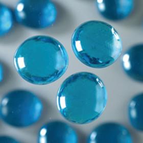 Glasnuggets hellblau irisierend 18 - 20 mm 100g