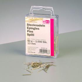 Stecknadeln 13mm 50g Eisen vergoldet