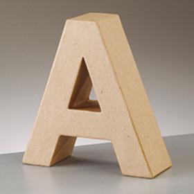 3D Dekobuchstabe aus Pappmache 10cm A