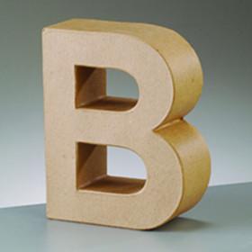 3D Dekobuchstabe aus Pappmache 10cm B
