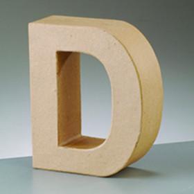 3D Dekobuchstabe aus Pappmache 10cm D