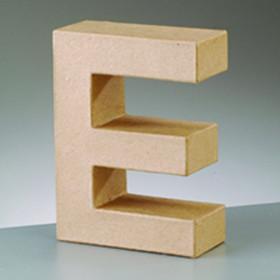 3D Dekobuchstabe aus Pappmache 10cm E
