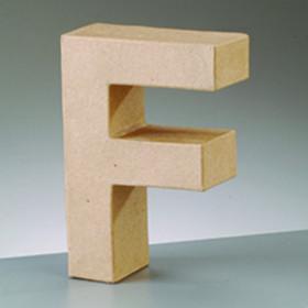 3D Dekobuchstabe aus Pappmache 10cm F