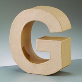 3D Dekobuchstabe aus Pappmache 10cm G
