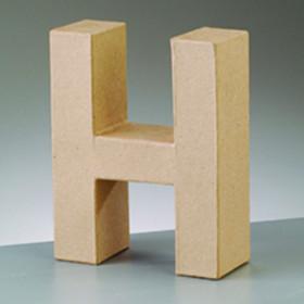 3D Dekobuchstabe aus Pappmache 10cm H