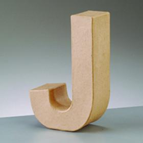3D Dekobuchstabe aus Pappmache 10cm J