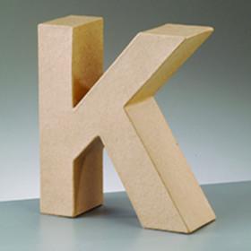 3D Dekobuchstabe aus Pappmache 10cm K