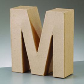 3D Dekobuchstabe aus Pappmache 10cm M