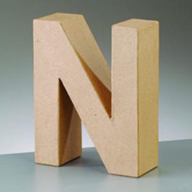 3D Dekobuchstabe aus Pappmache 10cm N