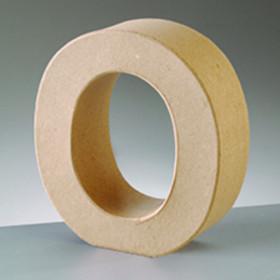 3D Dekobuchstabe aus Pappmache 10cm O