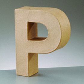 3D Dekobuchstabe aus Pappmache 10cm P