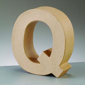 3D Dekobuchstabe aus Pappmache 10cm Q