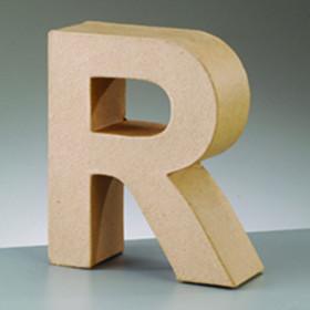 3D Dekobuchstabe aus Pappmache 10cm R