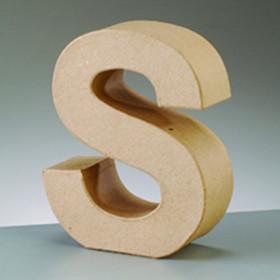 3D Dekobuchstabe aus Pappmache 10cm S
