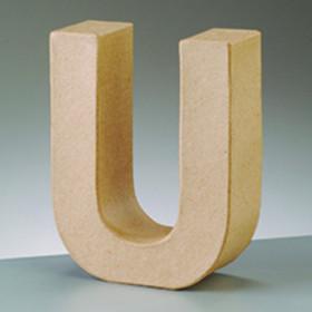 3D Dekobuchstabe aus Pappmache 10cm U