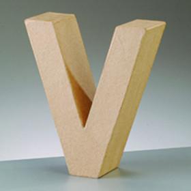 3D Dekobuchstabe aus Pappmache 10cm V
