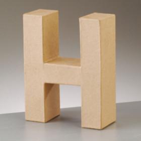 3D Dekobuchstabe aus Pappmache 17,5cm H